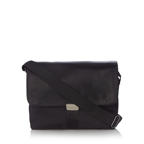 J by Jasper Conran - Designer black laptop messenger bag