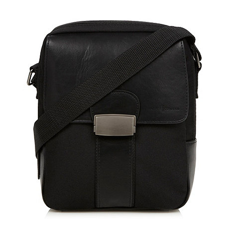 J by Jasper Conran - Designer black zip top cross body bag
