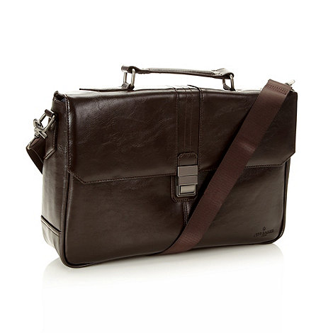 Jeff Banks - Designer brown laptop briefcase