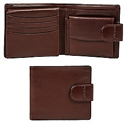 Dents - Brown leather bi-fold wallet in a gift box
