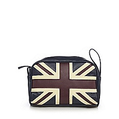 The Collection - Navy 'Union Jack' wash bag