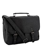 Black two pocket satchel bag
