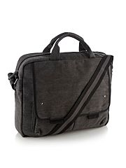 Dark grey canvas laptop bag