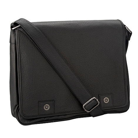 Red Herring - Black square despatch bag