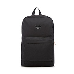 Jack & Jones - Black plain canvas backpack