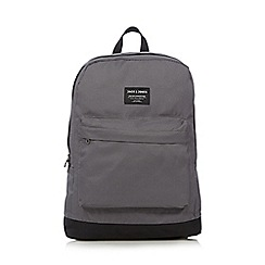 Jack & Jones - Grey colour block canvas backpack