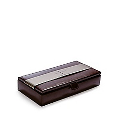 J by Jasper Conran - Brown leather cufflink box
