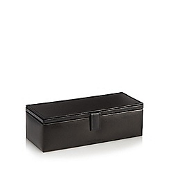 J by Jasper Conran - Black leather watch box