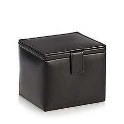 J by Jasper Conran - Black leather watch and cufflink box