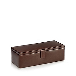 J by Jasper Conran - Brown leather watch box
