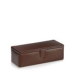 J by Jasper Conran - Brown leather watch box