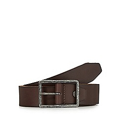 RJR.John Rocha - Brown leather tab belt