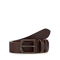 RJR.John Rocha - Brown leather debossed logo belt