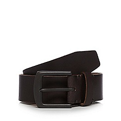 Mantaray - Brown leather pin buckle belt