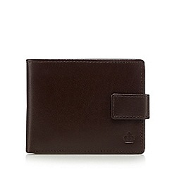 Jeff Banks - Brown leather fold out wallet in a gift box