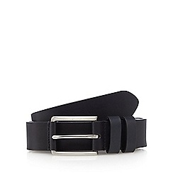 The Collection - Big and tall black leather pin buckle belt