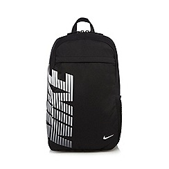 Nike - Black logo zip backpack