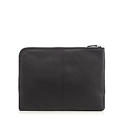 J by Jasper Conran - Black leather laptop sleeve
