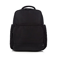 Jeff Banks - Black laptop and tablet backpack