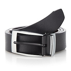 J by Jasper Conran - Designer black reversible belt in a box