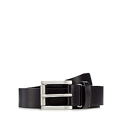 Jeff Banks - Designer black roll buckle belt in box