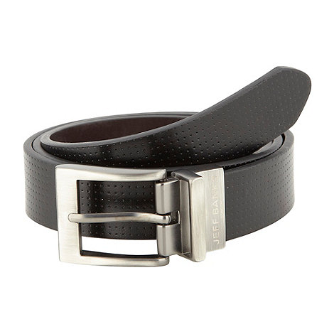 Jeff Banks - Designer black reversible perforated belt