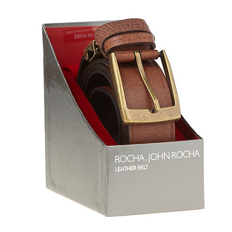 RJR.John Rocha - Designer brown leather belt in a box