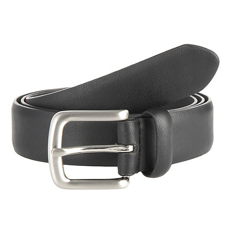 Maine New England - Big & tall black curve buckle belt