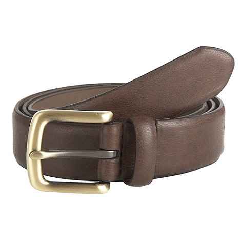 Maine New England - Brown curve buckle belt