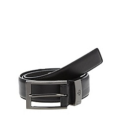 Jeff Banks - Big and tall designer black large buckle belt