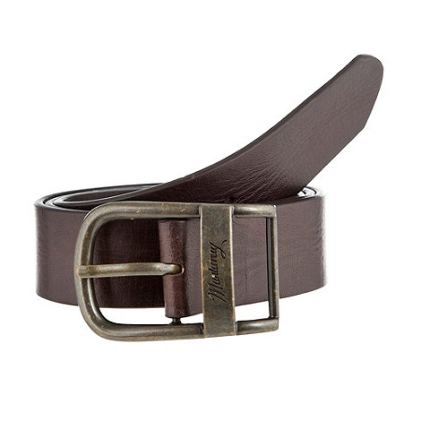 Mantaray - Brown oval buckle leather belt