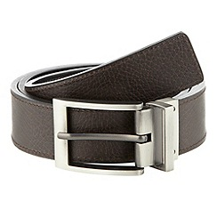 Thomas Nash - Black textured leather belt