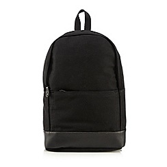 J by Jasper Conran - Black plain backpack
