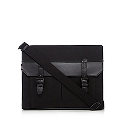 J by Jasper Conran - Black twill satchel bag