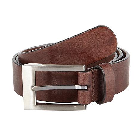 J by Jasper Conran - Designer brown italian leather belt