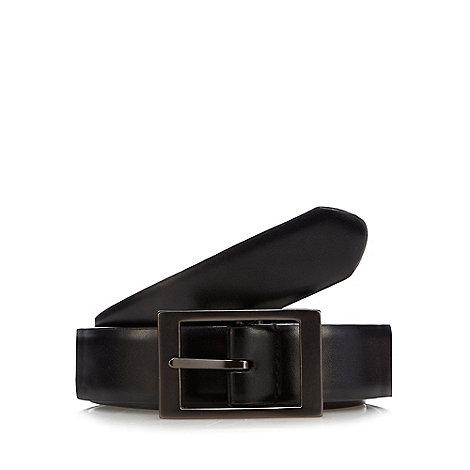 J by Jasper Conran - Designer black reversible leather belt