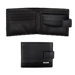 J by Jasper Conran - Black plate detail tab wallet in a gift box