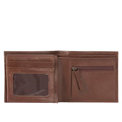 RJR.John Rocha - Designer brown top stitch detail wallet