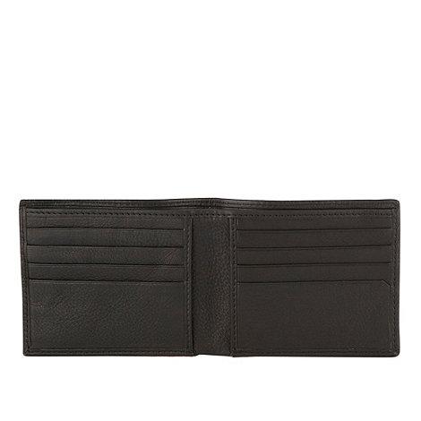 RJR.John Rocha - Designer black debossed billfold wallet