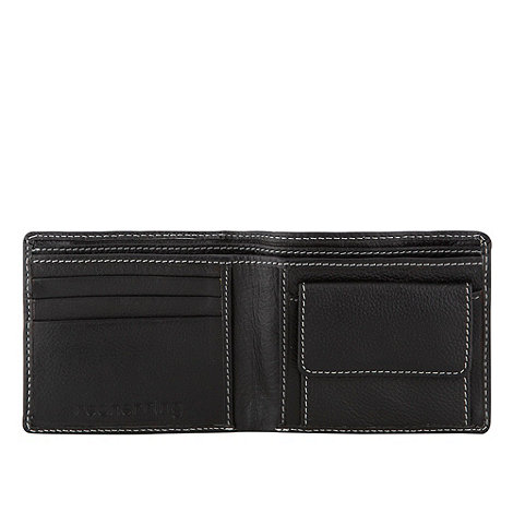 Red Herring - Black perforated wallet
