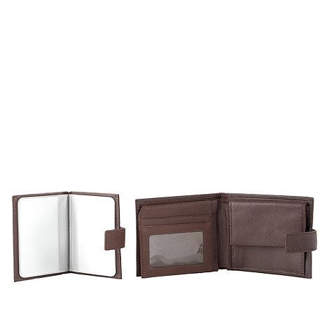 J by Jasper Conran - Designer brown leather wallet and credit card holder
