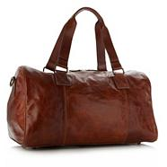 Designer tan leather holdall