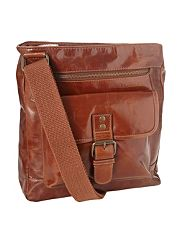 Designer brown postman bag