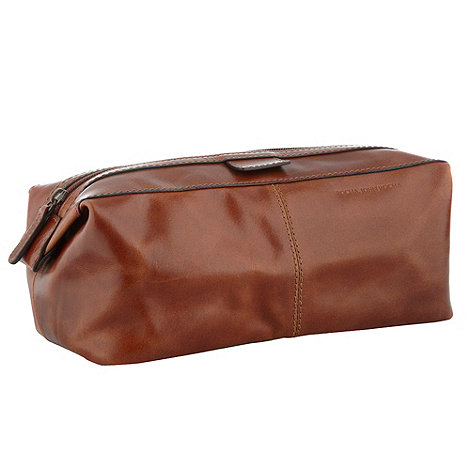 RJR.John Rocha - Designer tan leather wash bag