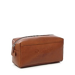 Osprey - Tan leather wash bag