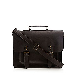 Red Herring - Brown leatherette satchel