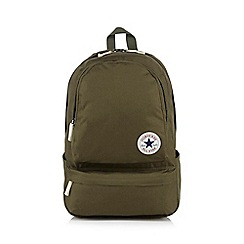 Converse - Khaki logo applique backpack