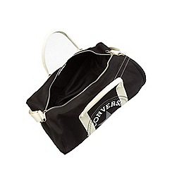Converse - Black graphic logo print duffle bag