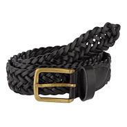 Black plaited leather belt
