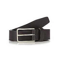 J by Jasper Conran - Black leather pin buckle skinny belt